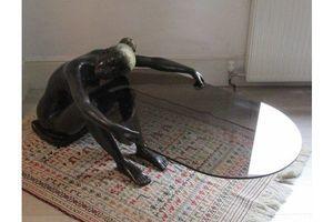 Thumb vintage bronze glass lounge table sculpture deco era unknown 0