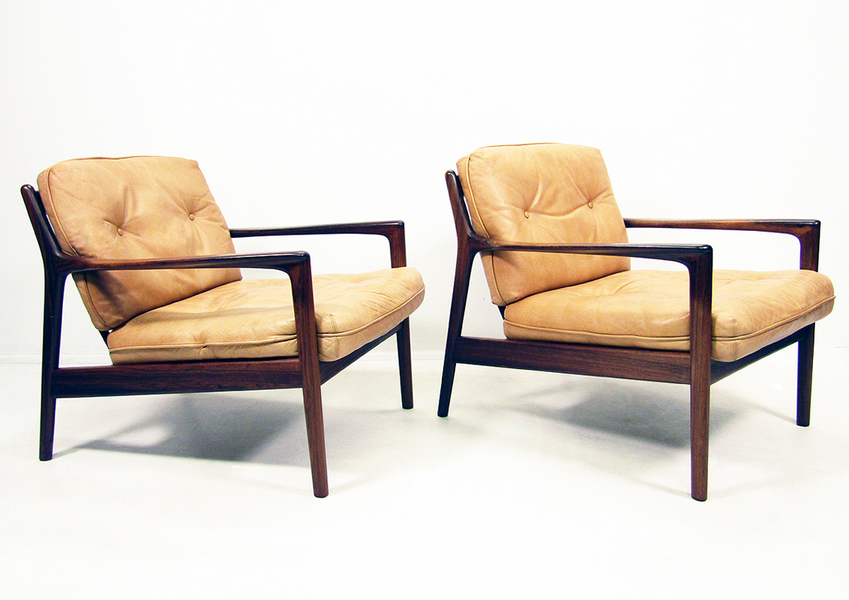 Pair Of Folke Ohlsson For Dux Usa 75 Chairs