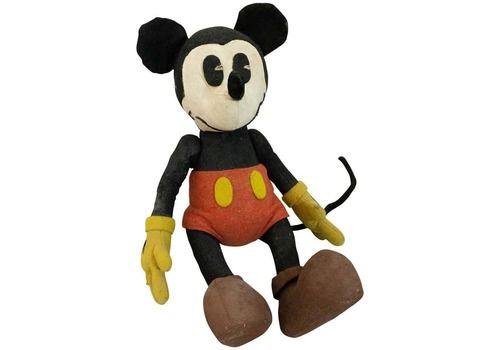 Stuffed Felt Mickey Mouse Children's Toy, Circa 1930
