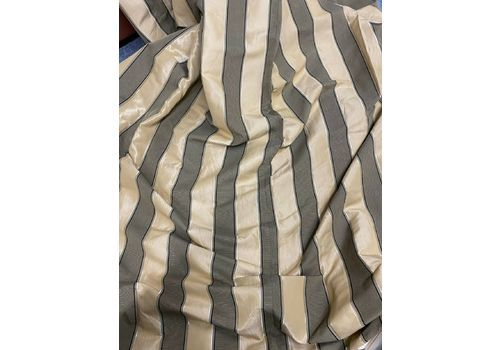 Huge Pair Interlined Silk Striped Curtains