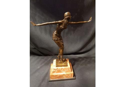 Large Bronze Art Deco Style Dancer
