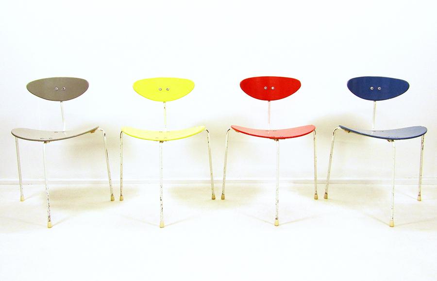 Set Of 4 Ernest Race Unicorn Chairs
