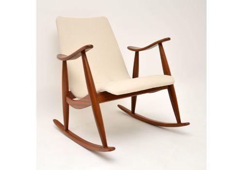 1960s Dutch Rocking Chair By Louis Van Teeffelen