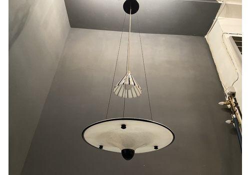 Black And White Murano Glass Light Pendant