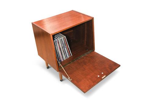 Mid Century Modern Teak Storage Cabinet   Vinyl To Store Lp's And 12 Inch Records 1960's