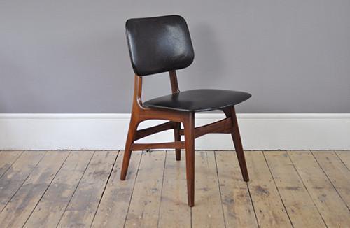 Set Of Four Black Skai Chairs photo 1