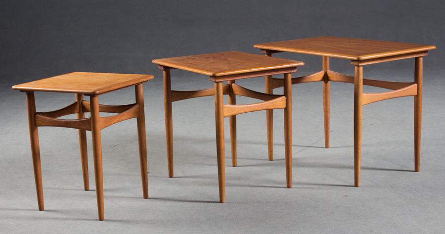Danish Solid Teak Nest Of Tables