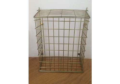 Brass Mid Century Letter Box Basket