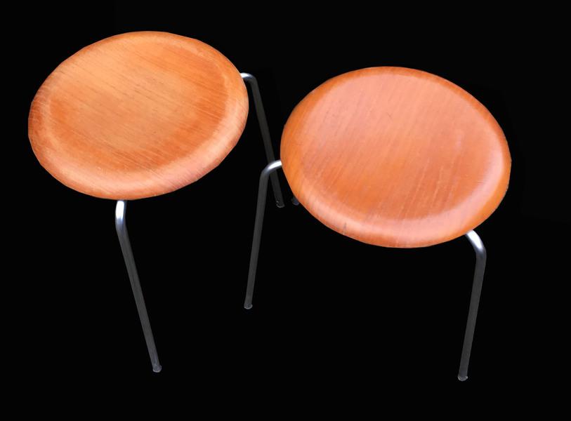Pair Of 'Dot' Stools By Arne Jacobsen For Fritz Hansen