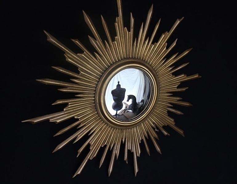 French Sunburst Mirror 71 Cm photo 1