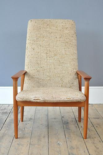 High Back Teak Armchair photo 1