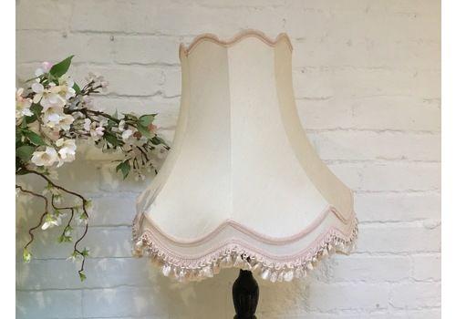 Vintage Standard Lamp Shade With Tassels