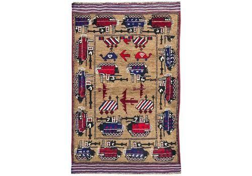 Vintage Afghan Belouch 'War' Rug 1.52m X 0.99m