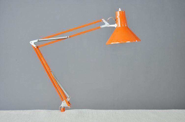 Adjustable Orange Desk Lamp
