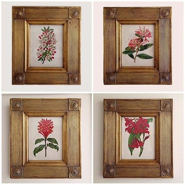 Set Of Four Antique Botanical Frames