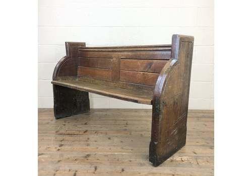 Antique Pew Bench | Victorian Antique Oak Church Pew | Church Or Chapel Pew Bench | Vintage Bench | Victorian Furniture | Hallway