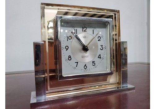 French Art Deco Peach Dep Savoy Alarm Clock C1930s