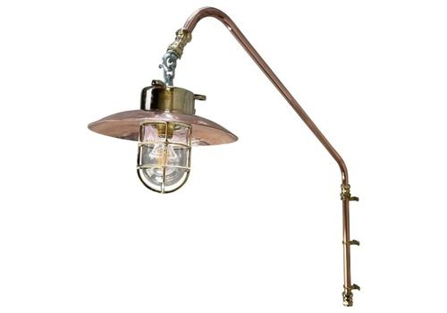 1970s Copper & Brass Cantilever Explosion Proof Wall Light