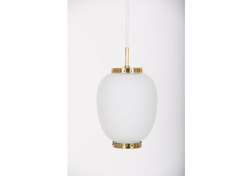 Bent Karlby Lamp, China Lamp In Glass With Brass. Lyfa Denmark
