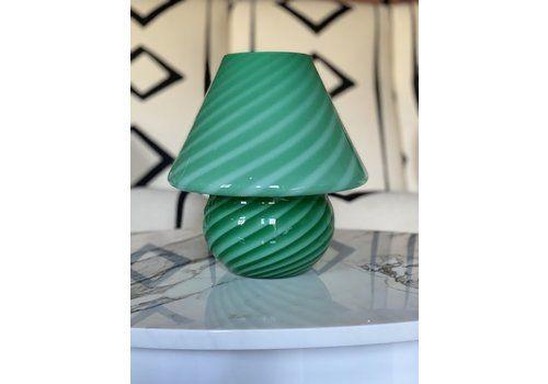 Green Murano Mushroom Lamp  30cm