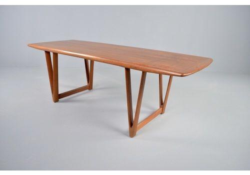Arrebo Möbler Coffee Table By Andreas Hansen 1960s Midcentury Design