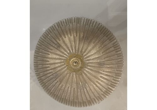 Italian Murano Glass Flushmount Light 1970's