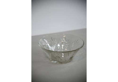 V Vintage Glass Trifle  Serving Bowl