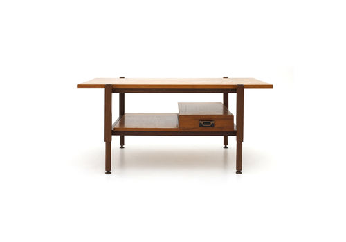 Coffee Table With Teak Top And Drawer, 60s