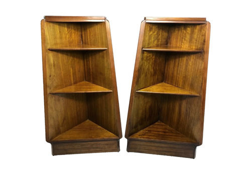Set Vintage Mid 20th Century G Plan E Gomme Pyramid Teak Bedside Table Open Bookcases