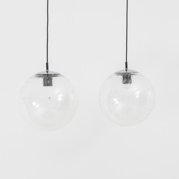 Glass Globe Pendants Raak, Amsterdam 1960s