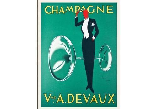 Champagne Devaux  1935   Original Vintage Poster