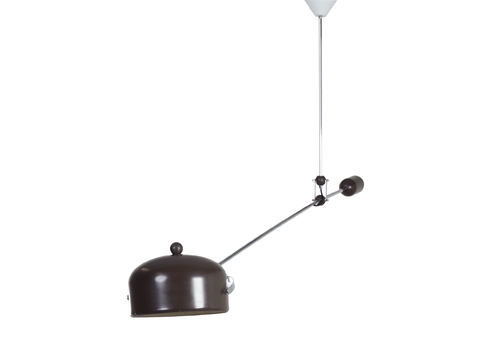 Brown Counterbalance Lamp By J.J.M. Hoogervorst For Anvia In 1960s