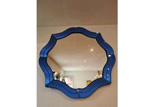 Mid Century Venetian Blue Mirror