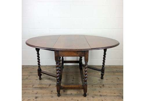 Antique Oak Gate Leg Dining Table