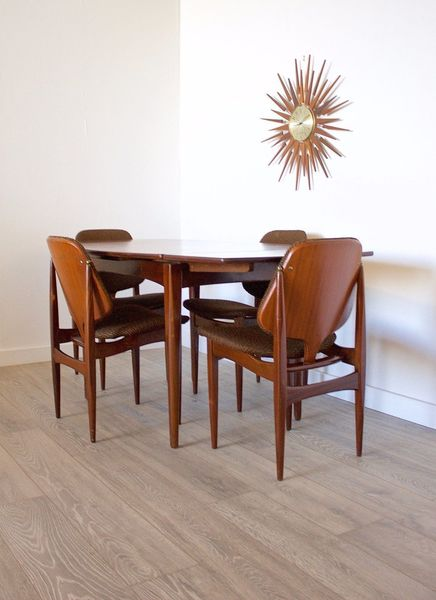 Terrific Mid Century Retro Eon Elliots Of Newbury Extending Dining Table 4 Dining Chairs Pabps2019 Chair Design Images Pabps2019Com