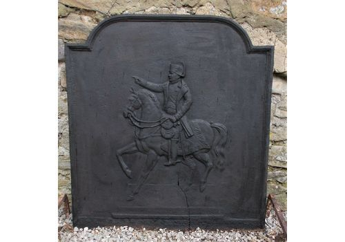 """Antique French Fireback,Backplate,Large,Napoleon On Horse,72cmsx76 High, 28""""X30"""""""