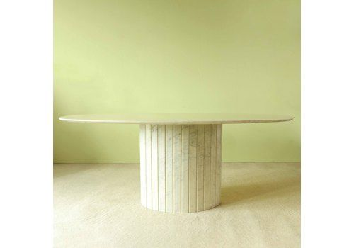 Oval Dining Table In Marble
