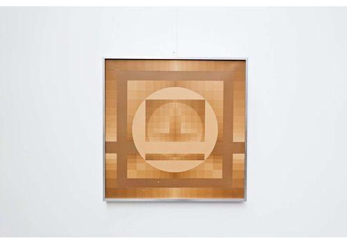 """Georges Vaxelaire, Oil On Canvas """"Composition Géométrique"""", 1975, Belgium"""