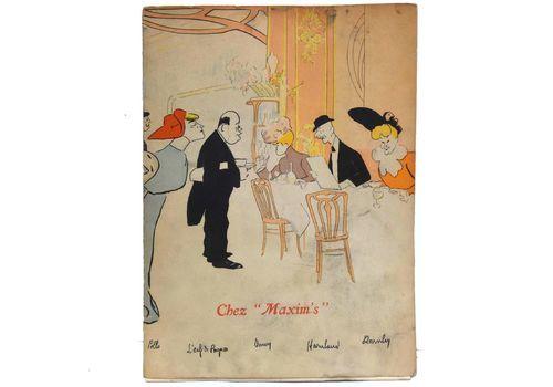 """Old Paper Menu Resurant """"Chez Maxim's"""" In Paris"""