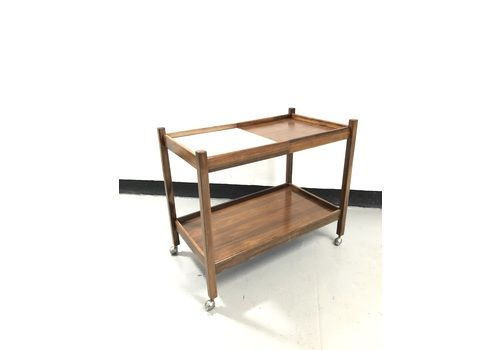 Brazilian 1950s Rosewood Drinks Trolley Bar Cart, Sergio Rodrigues Manner