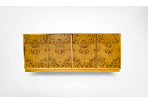 Mid Century English Walnut Floating Sideboard Cabinet