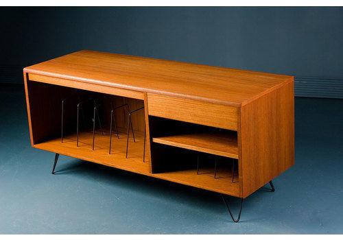 Vintage Teak G Plan 1970s Record Tv Media Cabinet Stand Unit