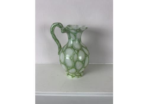 A Late 19th Century Richardson Syle Elegant Green Opaline Glass Jug