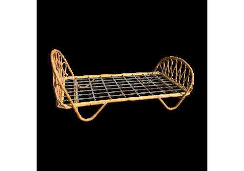 """Rattan """"Basket"""" Bed 1960"""