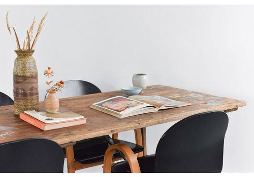 Vintage Large Rustic Wooden Folding Trestle Table