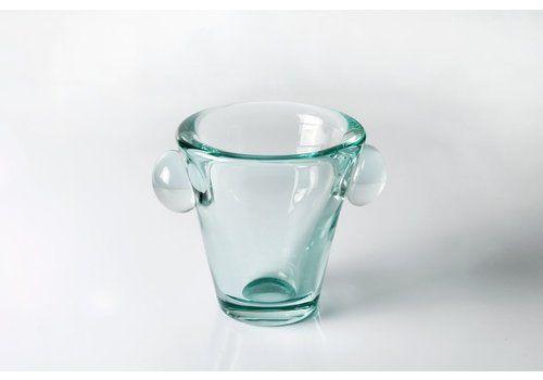 Art Deco Lead Crystal Vase By Daum Nancy, France 1930s