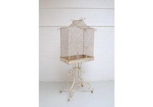 Birdcage On Stand, 1800s, Iron