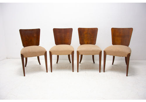 Art Deco Dining Chairs H 214 By Jindrich Halabala For úp Závody, 1950´S