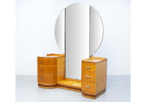Art Deco Sycamore Dressing Table By Vesper