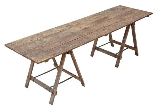Vintage Trestle Refectory Kitchen Dining Table